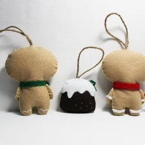 Gingerbread Bebe and Christmas Pudd..