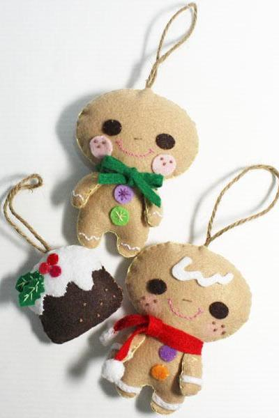 Gingerbread Bebe and Christmas Pudding - PDF Doll Pattern